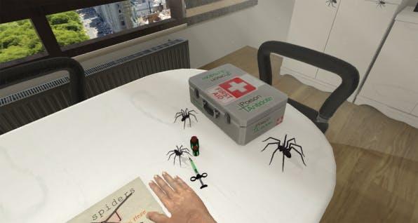 Angst vor Spinnen mit Virtual Reality therapieren. Foto: