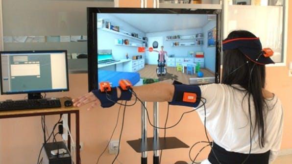 Virtual Reality wird in einer Reha-Maßnahme getestet. Foto: toyra.org