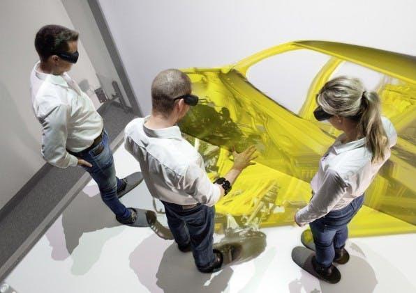 Den Produktionsprozess virtuell durchgehen: Bei Audi ist das heute schon möglich. Der Autokonzern spart dadurch Kosten und Zeit. (Foto: Audi)