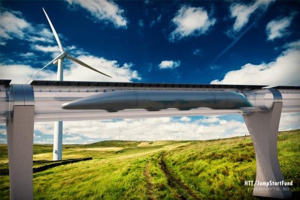 Der Hyperloop ist bisher nur ein Modell, sorgt aber jetzt schon für Diskussionen. So stellen sich einige die Frage, ob Menschen überhaupt eine Geschwindigkeit von 1.200 Stundenkilometern aushalten. (Bild: 2014 omegabyte3d)