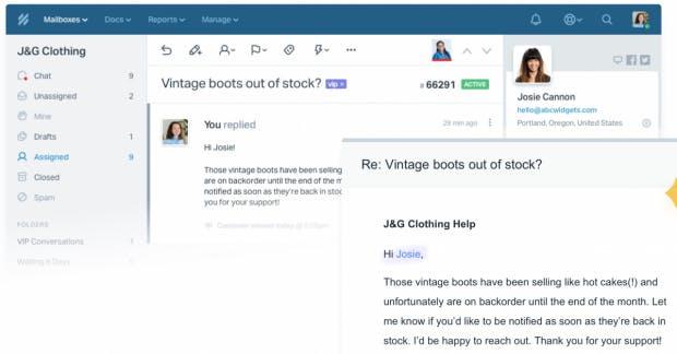 Help Scout bietet eine schlanke Helpdesklösung mit dem Fokus auf E-Mail-Kommunikation. (Screenshot: Help Scout)