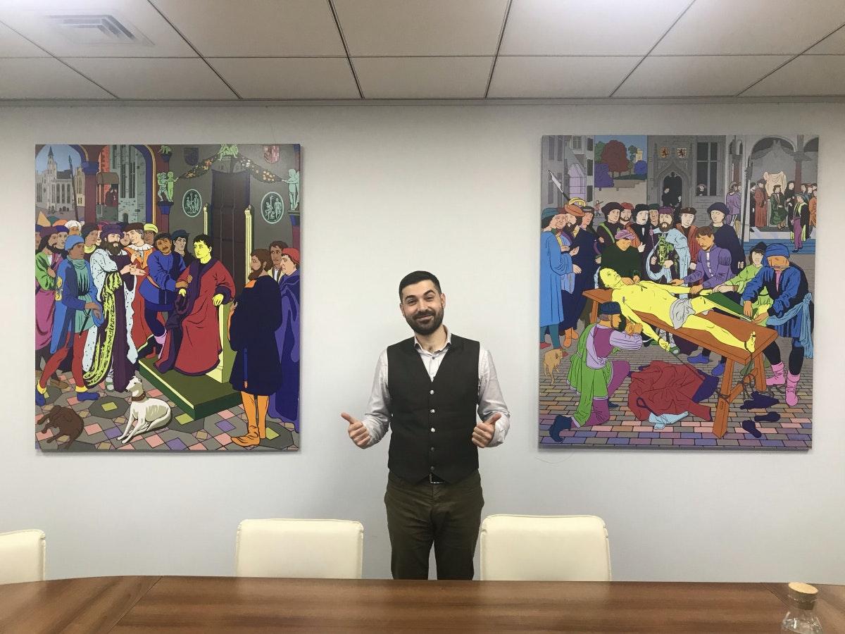 Der Anwalt der Hacker: Der Ukrainer Artem Afian hat sich auf IT-Recht spezialisiert. Waren früher Data-Miner und File-Sharer unter seinen Mandanten, sind es heute Unternehmen, die Hacker für Sicherheitstests engagieren wollen. (Foto: Jan Vollmer)