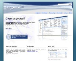 Screenshot der Conjoon-Website
