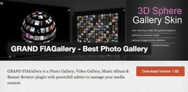 Grand FIAGallery unterstützt als WordPress-Plugin verschiedene Medientypen