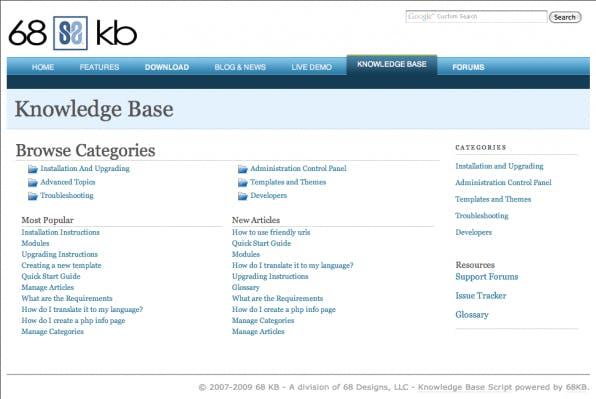 Die Knowledge Base von 68KB