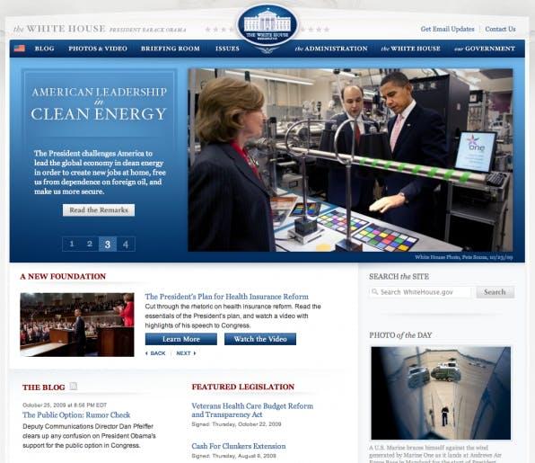Die Website whitehouse.gov läuft jetzt auch dem Open-Source-CMS Drupal