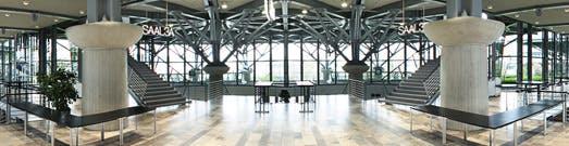 Das Foyer des Convention Centers, dem Veranstaltungsort des CCH09 (Quelle: Deutsche Messe AG)