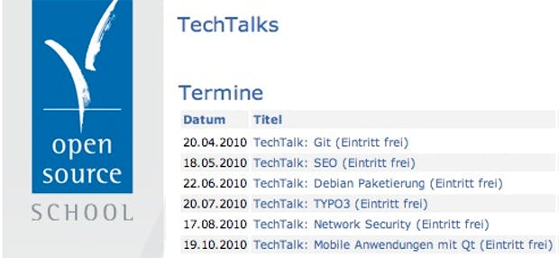 TechTalks: Kostenlose Abendvorträge zu Open Source und Linux