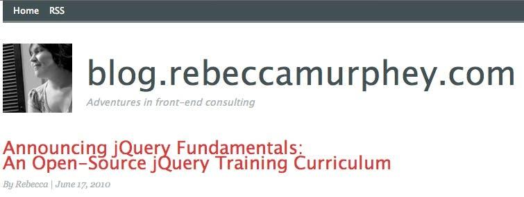 "Webdev: ""jQuery Fundamentals"" - Umfangreiches Online-Handbuch zu jQuery"