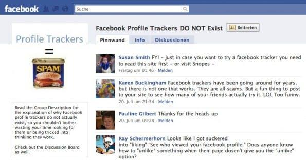 Es gibt sogar schon eine Gruppe bei Facebook, die vor Profile Trackern warnt