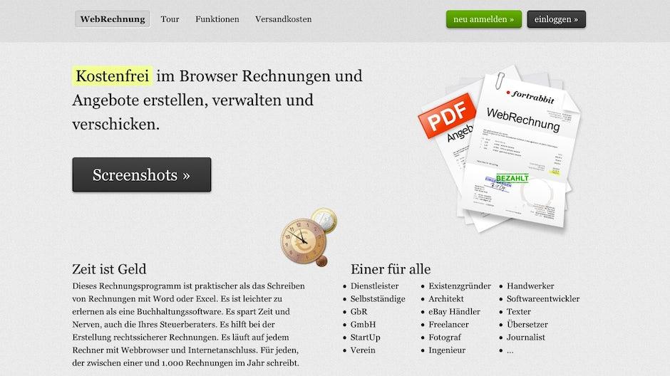 Online Rechnung Webrechnung T3n Digital Pioneers
