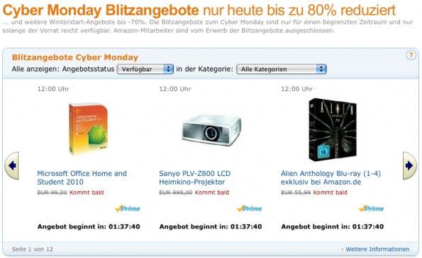 Amazon.de: Cyber Monday Angebote