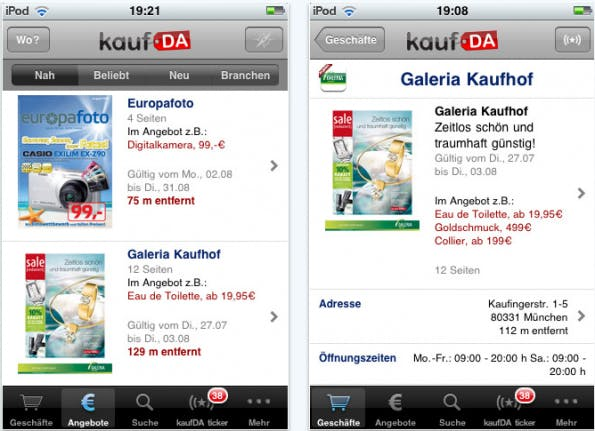 kaufDA mobile Shopping-App