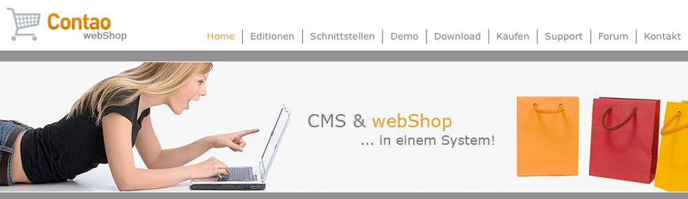 Open Source Shopsystem: Contao webShop