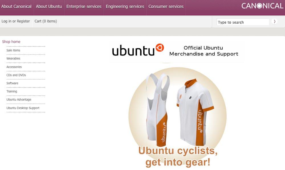 Open Source Shopsystem: osCommerce - Ubuntu Merchandise Store