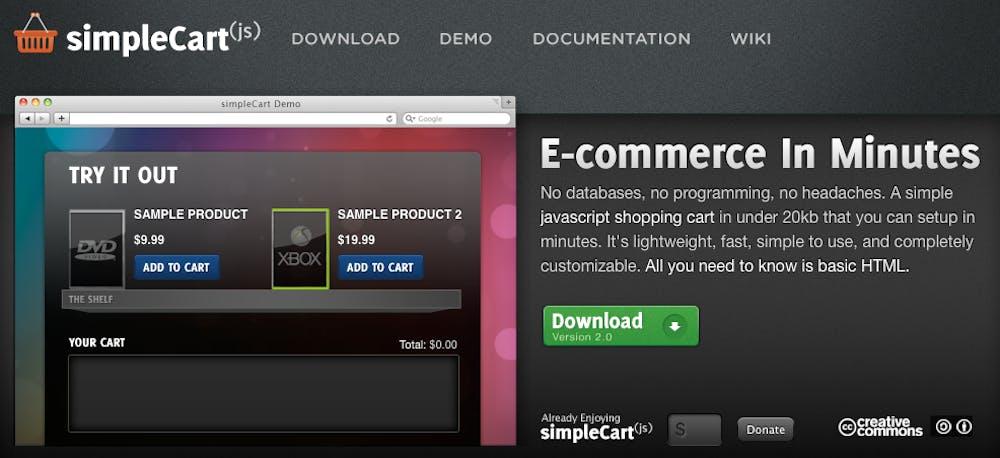 Open Source Shopsystem: simpleCart(js)