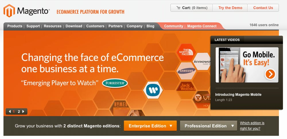 Open Source Shopsysteme: Magento