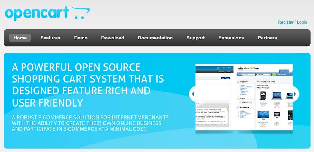 Open Source Shopsystem: OpenCart