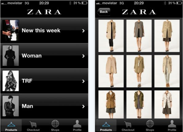 Zara iPad-Shopping-App