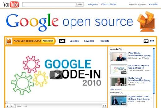 Google startet eigenen Open Source Channel auf YouTube
