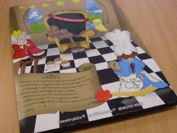 Weihnachtskarte 2010: Adventskalender von construktiv
