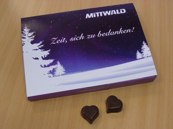 Weihnachtskarte 2010: Mittwald sagte danke