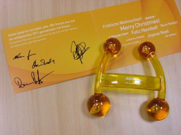 Weihnachtskarten 2010: AOE Media hält den Rücken frei