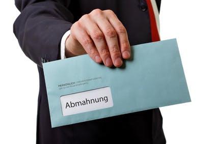 Abmahnungen © M&S Fotodesign - Fotolia.com