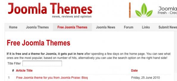 Joomla-Templates: Aus England kommen zahlreiche freie Templates.