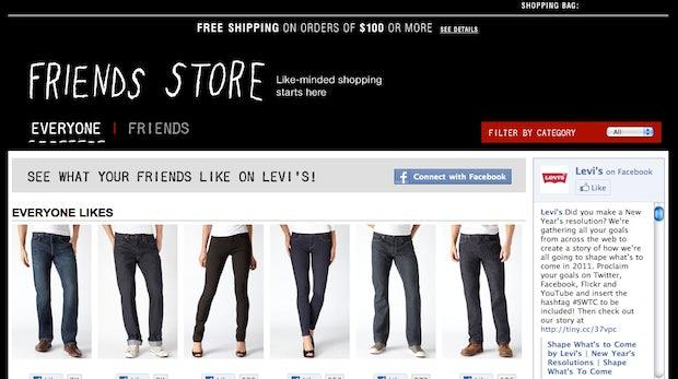 Social Commerce mit Facebook: Levi's zeigt, wie es gehen kann