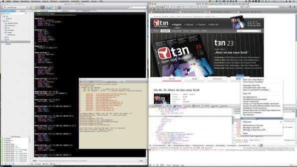 Hier spielt die echte Musik: HTML, CSS, PHP, git und vieles mehr