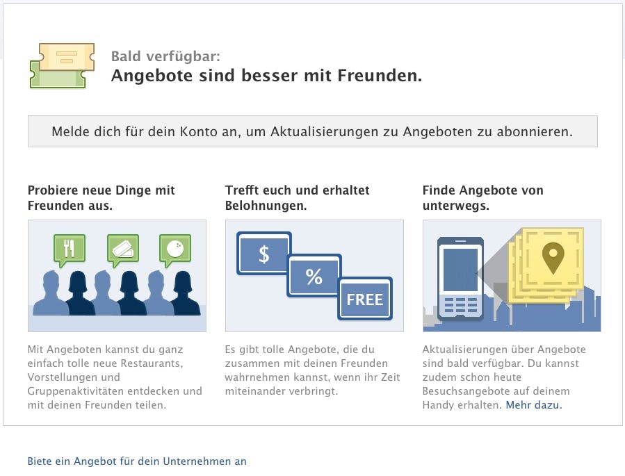 Facebook Deals: Testphase des Groupon-Konkurrenten gestartet