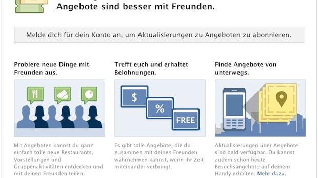 Facebook Deals: Testphase des Groupon-Konkurrenten gestartet