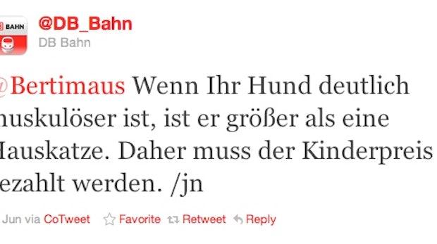 Spaß mit @DB_Bahn - Heute: Die muskulöse Bulldogge
