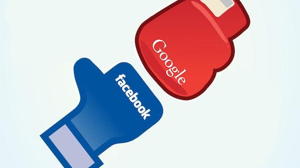 Facebook vs. Google - die Infografik