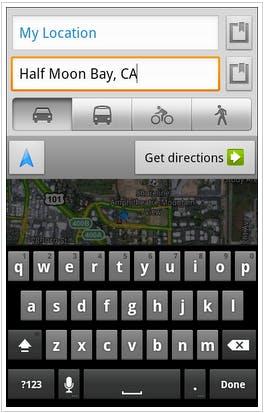 Google Maps 5.7 verbessert den Zugriff auf die Routenplanung.