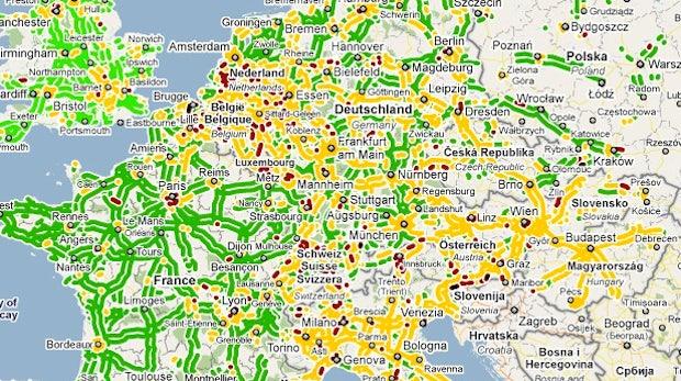 Google Maps: Live-Verkehrsmeldungen nun auch in Europa
