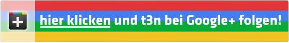 Button t3n Google+ Page, unter diesem Link erreichbar