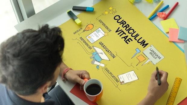 Kreative Beispiele für grafische Lebensläufe