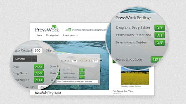 PressWork - WordPress-Themelayout mit WYSIWYG-Editor und HTML5