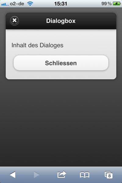 jQuery Mobile - Dialoge