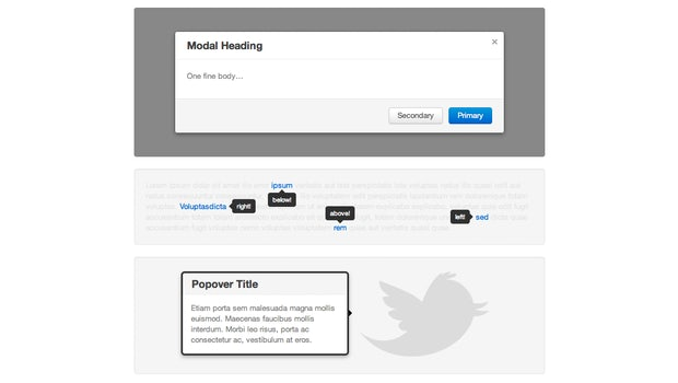 Bootstrap: Popovers, Lightboxes, Tooltips