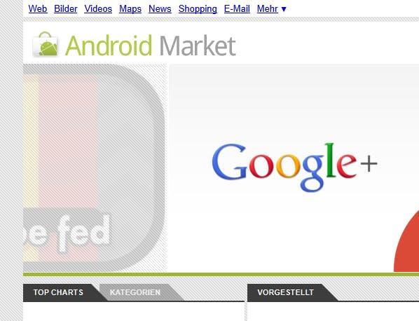 Android Market mit CSS-Dreiecken