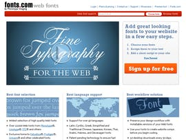 Webfontdienst: Fonts.com