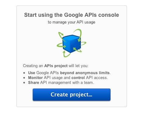 Google+ API Einstieg für Entwickler, Screenshot