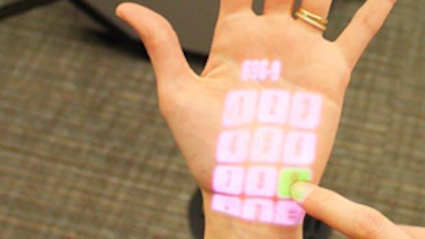 Microsoft OmniTouch: Die ganze Welt ist dein Touchscreen [Bildergalerie]