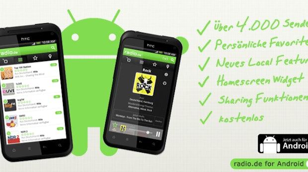 Radio.de für Android: 4.000 Sender immer dabei