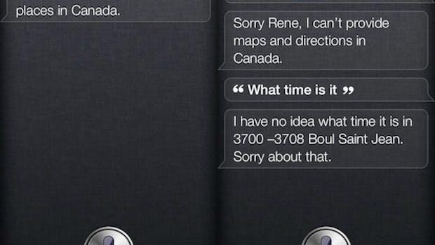 Siri: Unbrauchbar in Kanada (Quelle: Engadget)