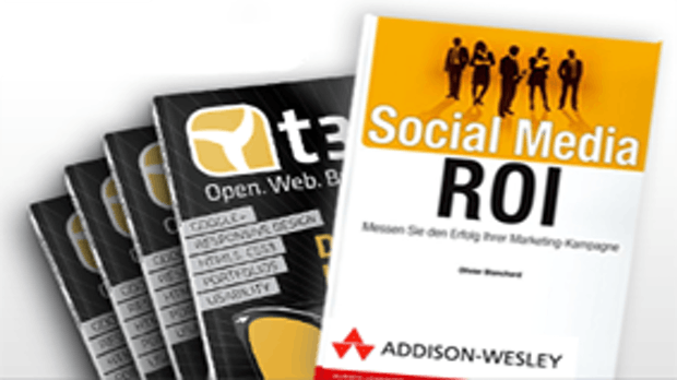 "Aktion: t3n-Abonnement inkl. Buch ""Social Media ROI"""