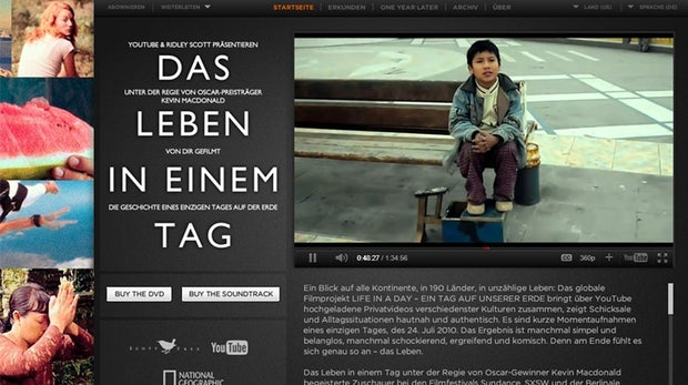 "YouTube-Experiment ""Life In A Day"" jetzt online"